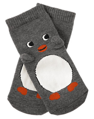 Penguin Grey Penguin Sock by Gymboree