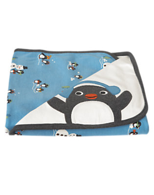 Ivory Penguin Blanket by Gymboree