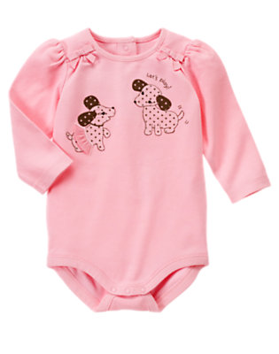 Baby Playful Pink Let's Play Puppy Bodysuit by Gymboree