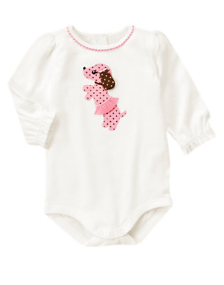 Ivory Puppy Tutu Bodysuit by Gymboree