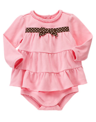 Baby Playful Pink Tiered Layered Bodysuit by Gymboree