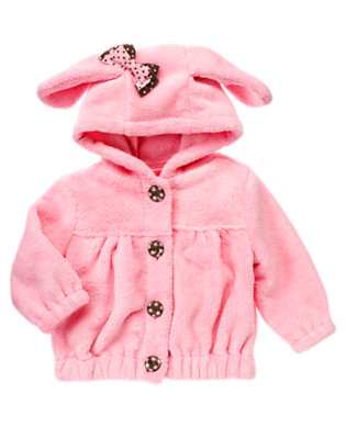 Playful Pink Puppy Faux Fur Hoodie by Gymboree