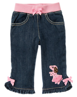 Baby Denim Puppy Denim Pant by Gymboree