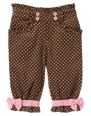 Cocoa Brown Dot Polka Dot Corduroy Pant by Gymboree