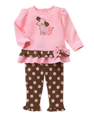 Baby Playful Pink Puppy Tutu Two-Piece Set by Gymboree