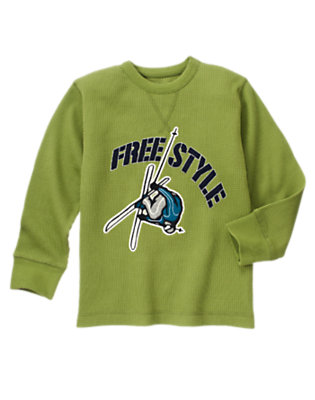 Moss Green Free Style Ski Thermal Tee by Gymboree