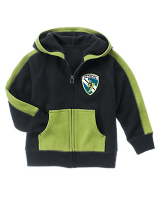 Navy Snowboarder Patch Hoodie by Gymboree