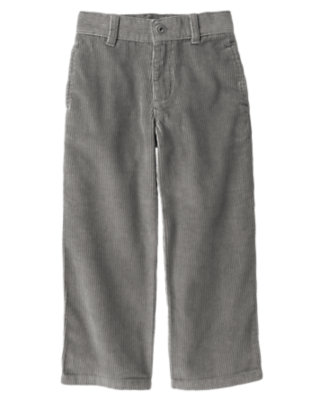 Boys Asphalt Grey Corduroy Pant by Gymboree