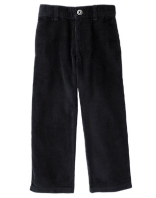 Boys Navy Corduroy Pant by Gymboree