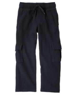 Navy Fleece Cargo Pant by Gymboree