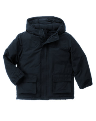 Navy Hooded Jacket by Gymboree