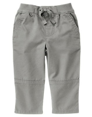 Toddler Boys Smoky Grey Pull-On Canvas Active Pant by Gymboree