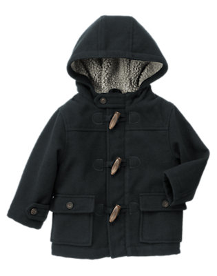 Toddler Boys Navy Hooded Toggle Coat by Gymboree