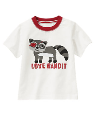 Toddler Boys Ivory Love Bandit Raccoon Tee by Gymboree