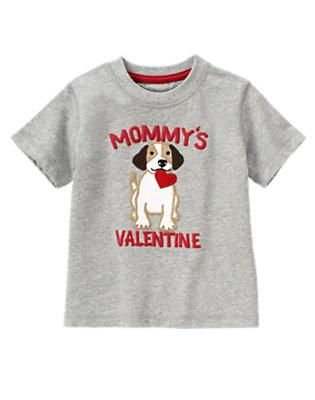 Heather Grey Mommy's Valentine Puppy Tee by Gymboree