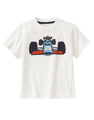 Ivory Race Car Tee by Gymboree