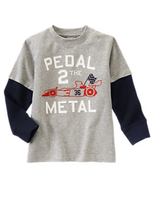 Heather Grey Pedal 2 The Metal Double Sleeve Tee by Gymboree