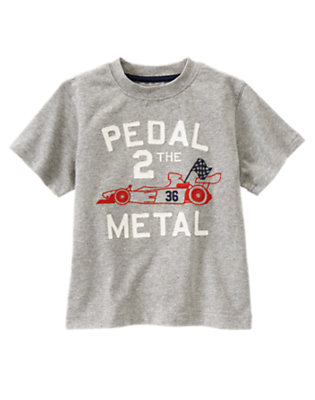 Boys Heather Grey Pedal 2 The Metal Tee by Gymboree