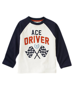 Ivory Ace Driver Raglan Tee by Gymboree