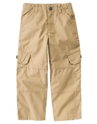 Khaki Ripstop Cargo Pant by Gymboree