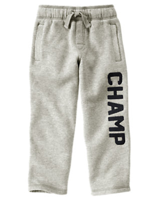 Heather Grey Champ Fleece Pant by Gymboree