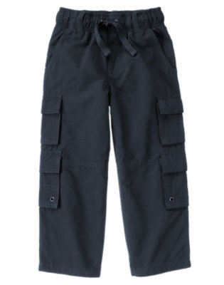 Boys Midnight Blue Double Cargo Pocket Lined Active Pant by Gymboree