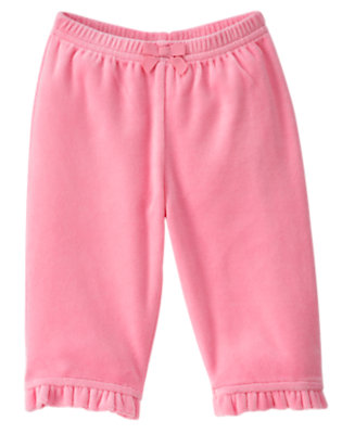 Bubblegum Pink Kitty Velour Pant by Gymboree