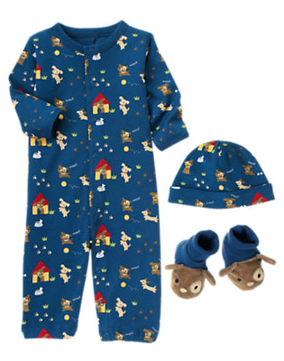 Dark Blue Puppy Three-Piece Set by Gymboree
