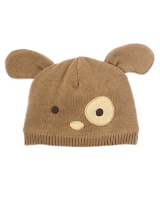 Baby Puppy Brown Puppy Sweater Hat by Gymboree