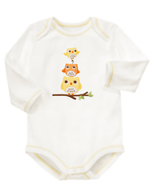 Ivory Owls Bodysuit by Gymboree
