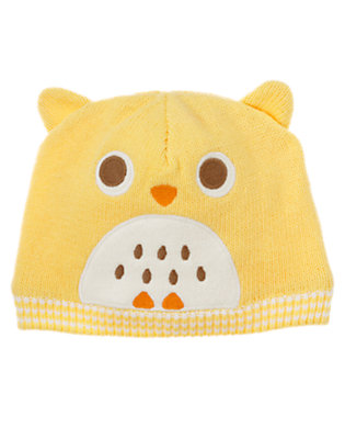 Yellow Owl Sweater Hat by Gymboree