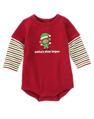 Santa Red Santa's Little Helper Bodysuit by Gymboree
