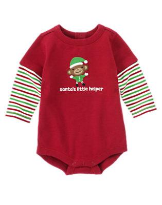 Santa Red Santa's Little Helper Bodysuit by Gymboree