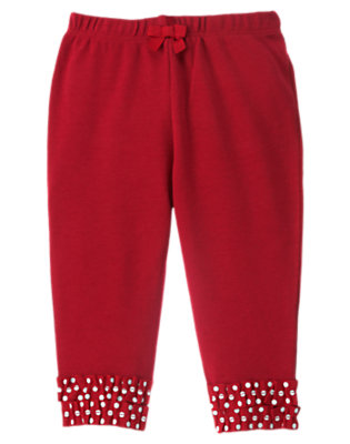 Baby Santa Red Ribbon Cuff Pant by Gymboree