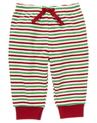 Baby Santa Red Stripe Stripe Knit Pant by Gymboree
