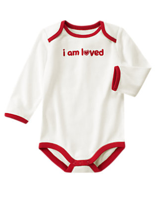 Ivory I Am Loved Bodysuit by Gymboree
