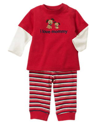 Baby Crimson I Love Mommy Two-Piece Set by Gymboree