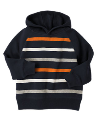 Boys Navy Stripe Hoodie by Gymboree