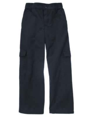 Boys Navy Microfleece Lined Cargo Pant by Gymboree