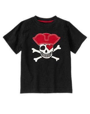 Black Valentine Pirate Short Sleeve Tee by Gymboree