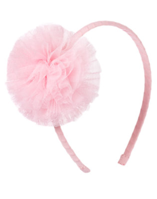 Ballerina Pink Tulle Pom Pom Headband by Gymboree