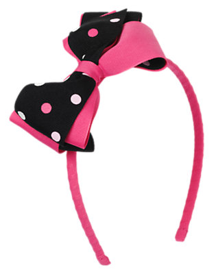 Black Dot Dot Bow Headband by Gymboree