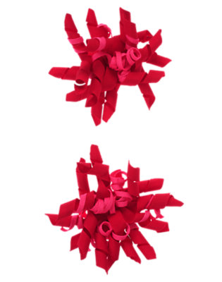 Festive Red/Bright Pink Big Curly Hair Clip Two-Pack by Gymboree