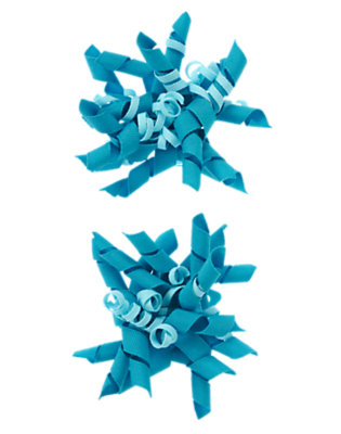 Toddler Girls Bright Blue Big Curly Hair Clip Two-Pack by Gymboree