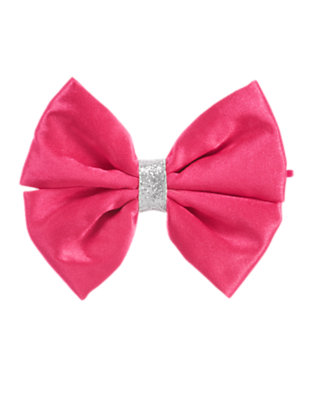 Girls Pirouette Pink Glitter Bow Hair Pin by Gymboree