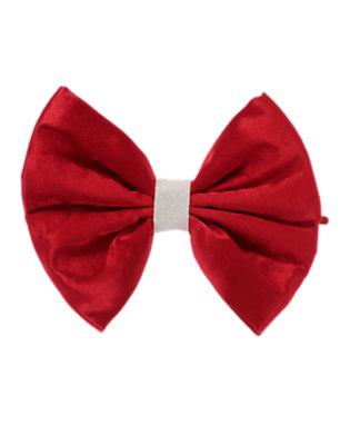 Holiday Red Glitter Bow Hair Pin by Gymboree