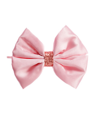 Ballerina Pink Glitter Bow Hair Pin by Gymboree