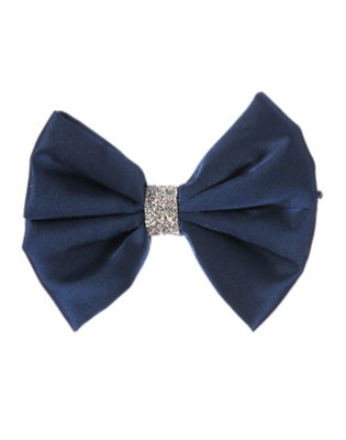 Holiday Navy Glitter Bow Hair Pin by Gymboree