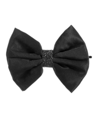 Girls Black Glitter Bow Hair Pin by Gymboree