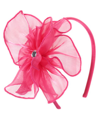 Pirouette Pink Gem Flower Headband by Gymboree